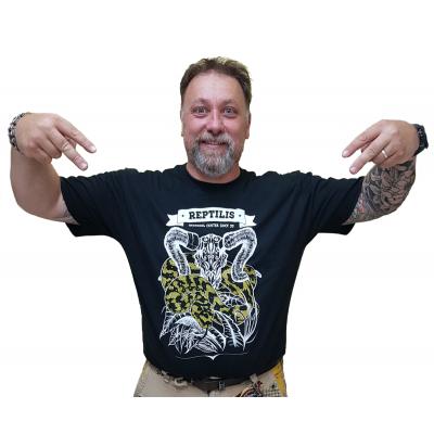 T-shirt Morelia s. cheynei & crâne de bouc gravé