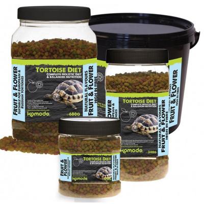 """Alimentation granulée pour tortues terrestres """"Tortoise diet fruit & flower"""" de Komodo"""