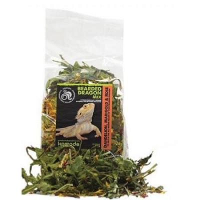 """Mélange de feuilles et fruits séchés pour lézards omnivores et herbivores """"Bearded dragon mix"""" Komodo"""