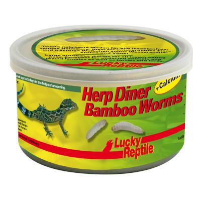 """Vers de bambou en conserve """"Herp diner bamboo worms"""" de Lucky reptile"""