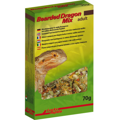 "Alimentation sèche pour Pogona adulte ""Bearded Dragon mix"" de Lucky reptile"