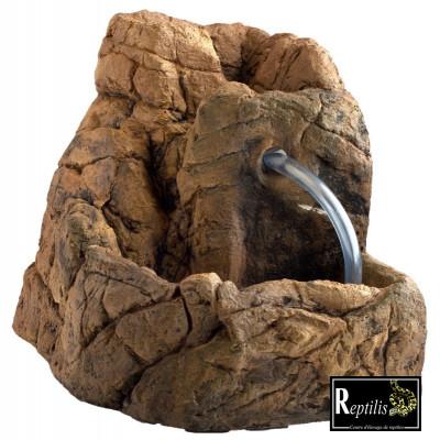 Fontaine céramique imitation roche