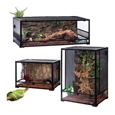 Terrariums en verre démontable avec cuve étanche Reptizoo