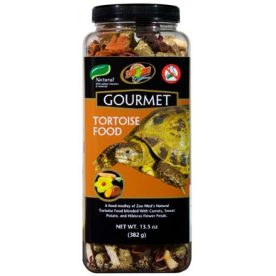 "Alimentation complémentaire pour tortues terrestres ""Gourmet tortoise food"" Zoomed"