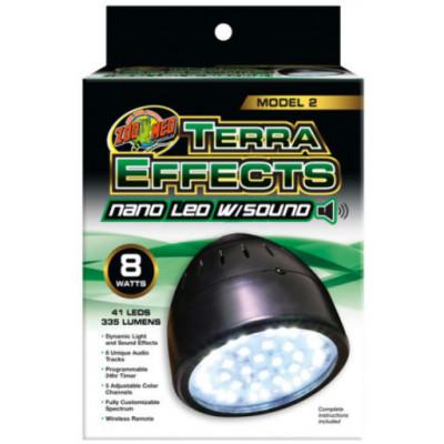 """Eclairage LED avec effets sons et lumières naturels """"Terra effect modal 2 nano"""" Zoomed"""