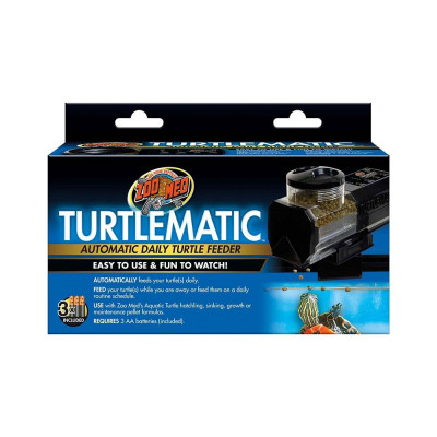 "Distributeur de nourriture automatique pour tortue ""Turtlematic"" Zoomed"