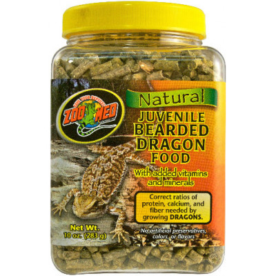 "Alimentation en granulés Pogona juvénile ""Nat bearded dragon food"" Zoomed"