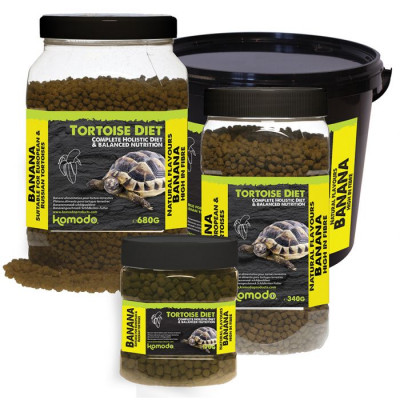 """Alimentation granulée pour tortues terrestres """"Tortoise diet banane"""" de Komodo"""