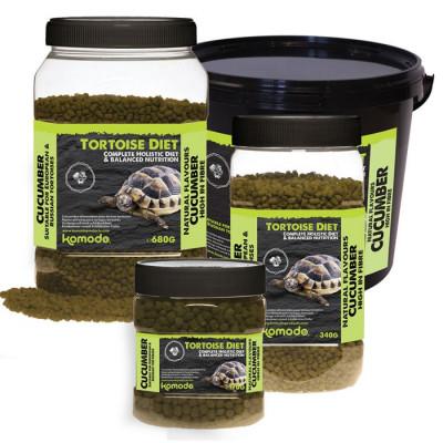 """Alimentation en granulés pour tortues terrestres """"Tortoise diet Concombre"""" de Komodo"""