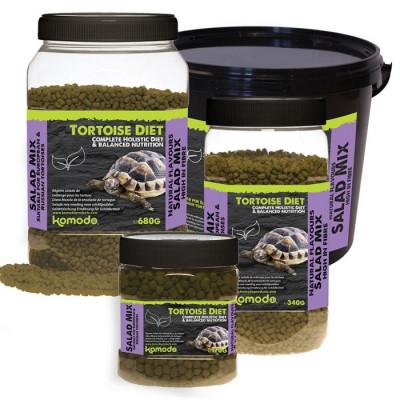"""Alimentation granulée pour tortues terrestres """"Tortoise diet salad mix"""" de Komodo"""