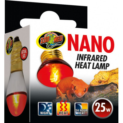 "Mini spot chauffant infra rouge ""Nano infrared heat lamp"" de Zoomed"
