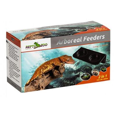 "Mangeoire double à ventouser ""Arboreal feeders"" Reptizoo"