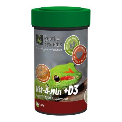 """Poudre multi-vitaminée premium """"Vit-A-Min"""" avec D3 de Reptile Systems"""