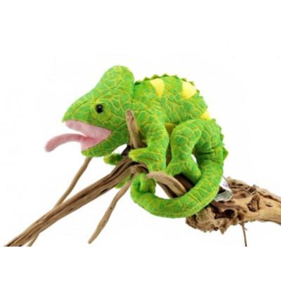 Peluche caméléon vert